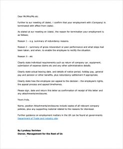 employment termination letter mutual employment termination letter