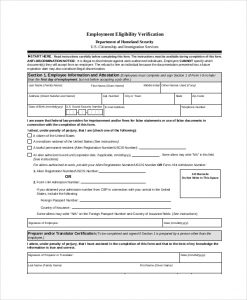 employment verification form employment eligibility verification form