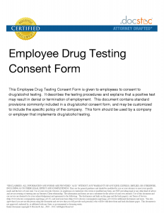 employment verification form template drug test consent form