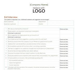 employment verification form templates employee exit interview