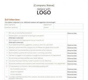 employment verification forms template employee exit interview