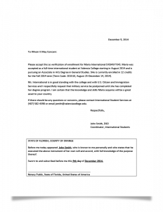 employment verification letter for visa military letter sample