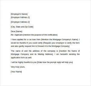Employment Verification Letter For Visa Printable