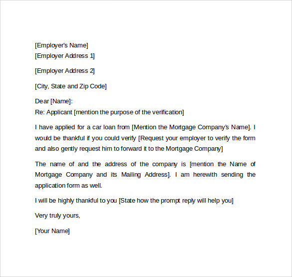 Employment verification letter for visa template business employment verification letter for visa altavistaventures Images