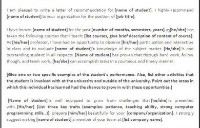 employment verification letter for visa recommendation letter template