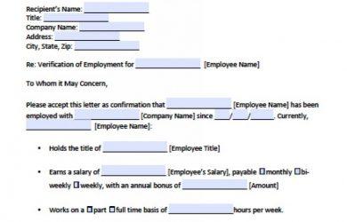 employment verification letter sample employee verification letter x