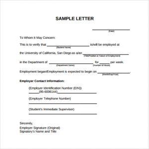 employment verification letter sample sample pdf employment verification letter