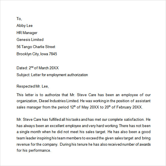 Employment Verification Letter Template Word  Template Business