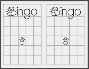 empty bingo card christmas blank bingo card template