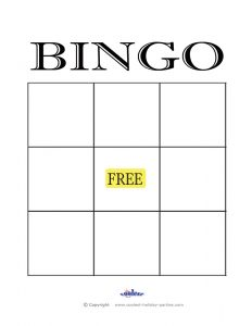 empty bingo card free printable blank bingo cards template