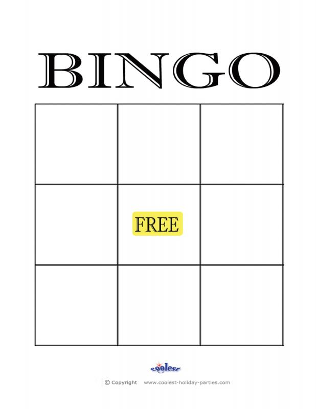 empty bingo card