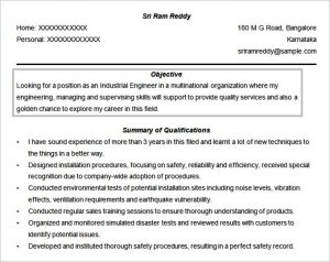 engineering resume objective engineer resume objective format free download