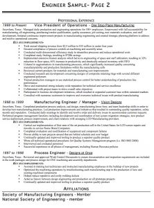 engineering resume template engineer resume example