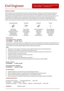 engineering resume template pic civil engineering cv