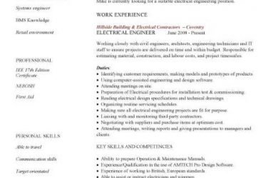 engineering resume template pic electrical engineer cv template