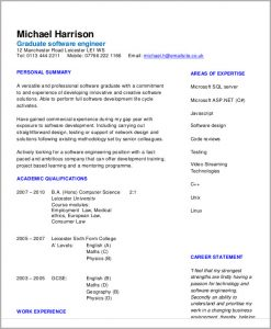 engineering resume template software engineering resume example