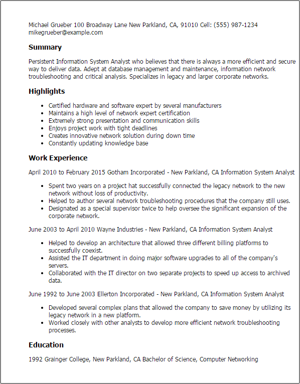 Financial Planning Entry Level Cover Letter