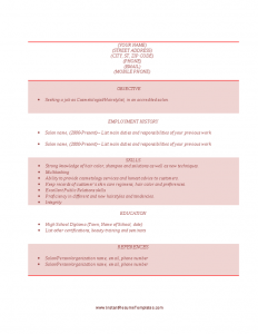 entry level cover letter sample cosmetology cover letter samples objective skills