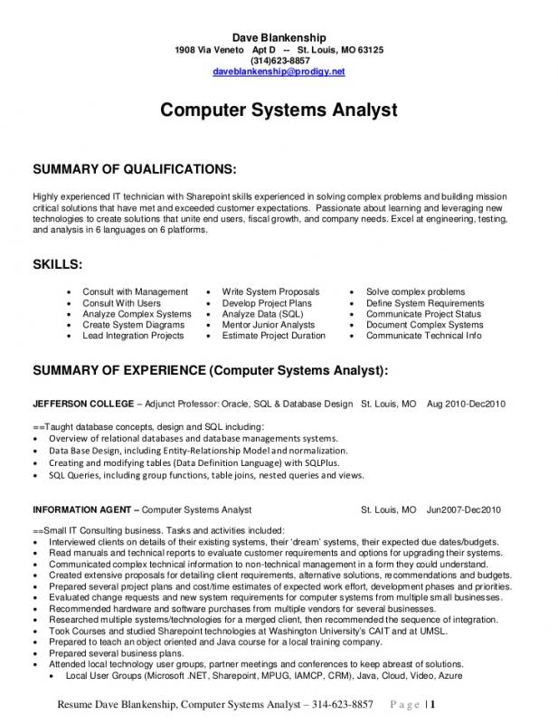 entry level data analyst resume