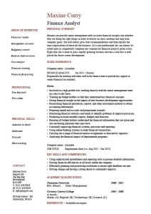 entry level resume template finance objective and personal summary resume financial analyst pdf