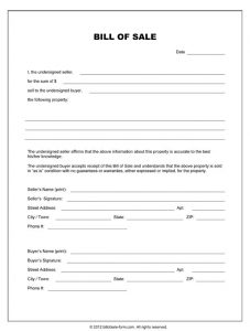 equine bill of sales equipment bill of sale template