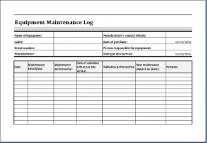 equipment inventory template sheets brilliant equipment maintenance and repair log template sample