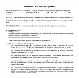 equipment rental contract equipment rental agreement doc