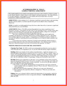 essay outline sample autobiographical sketch example examples in making autobiography essay