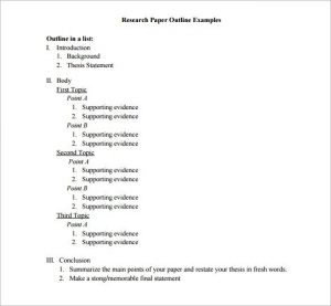 essay outline template sample research essay outline template download