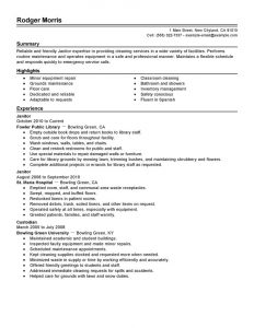 essay template word custodian resume responsibilities in custodian resume template
