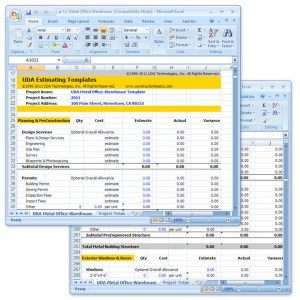 estimate template excel lc detailed x