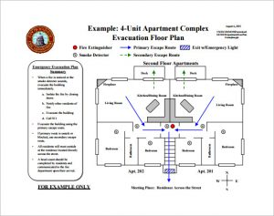 evacuation plan template apartment evacuation plan free pdf template download