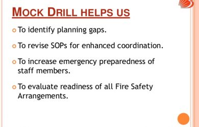 evacuation plan templates mock drill preparedness
