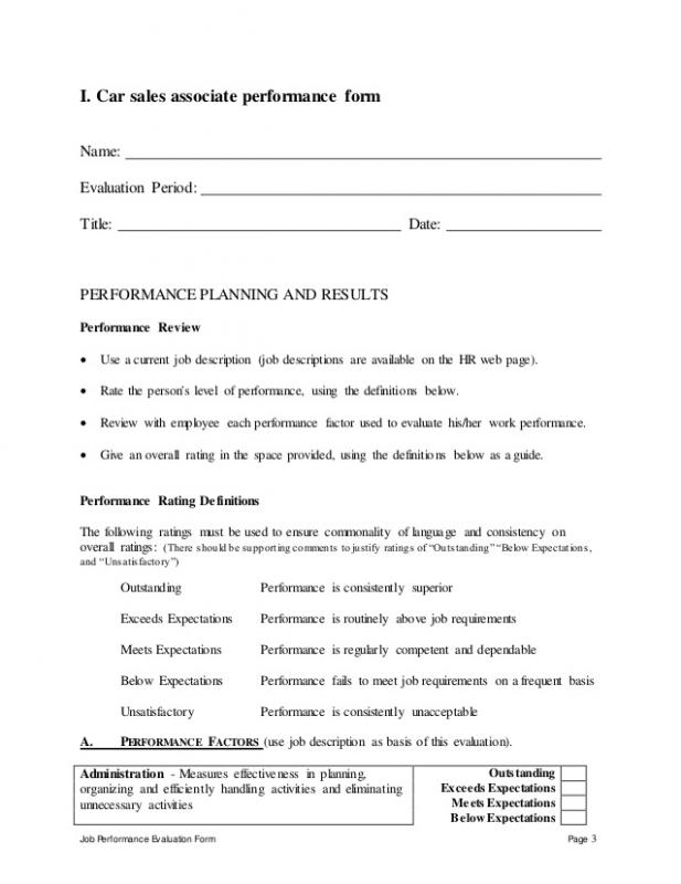 sales performance appraisal form - Baskan.idai.co