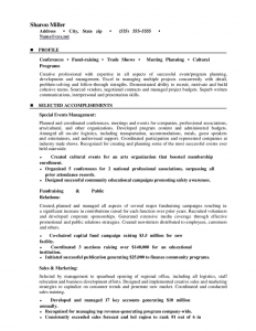 event contract template career change event planner resume