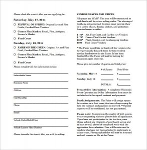 event contract template simple vendor contract template