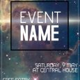 event flyer design galaxy event flyer template cdeeeb screen