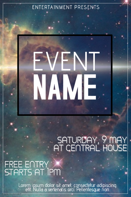 event flyer design