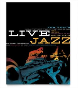 event flyer design jazz music event flyer