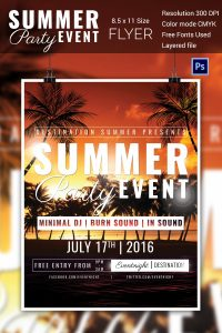 event flyer design summerpartyeventflyermockup
