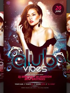 event flyer templates free download club vibes dance poster download in psd format