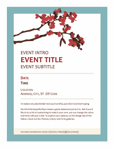 event flyer templates free lt