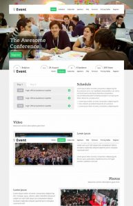 event landing page event landing page template