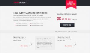 event landing page event managers landing page template x