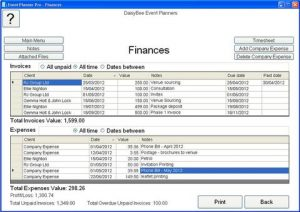event plan template event planner software