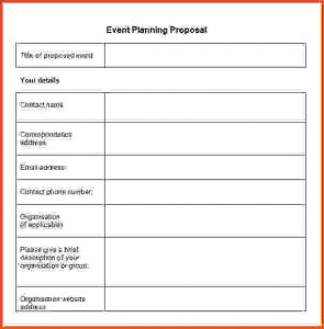 event planning template event planner template event planning proposal