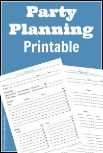 event planning worksheet cap