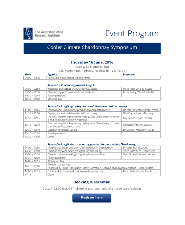 Event Program Template  Template Business