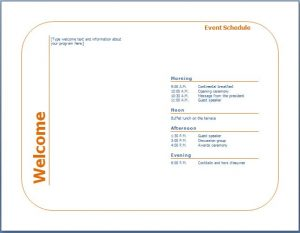 event program template event
