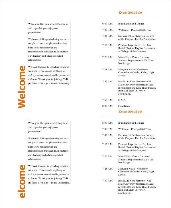 Event Program Template  Template Business
